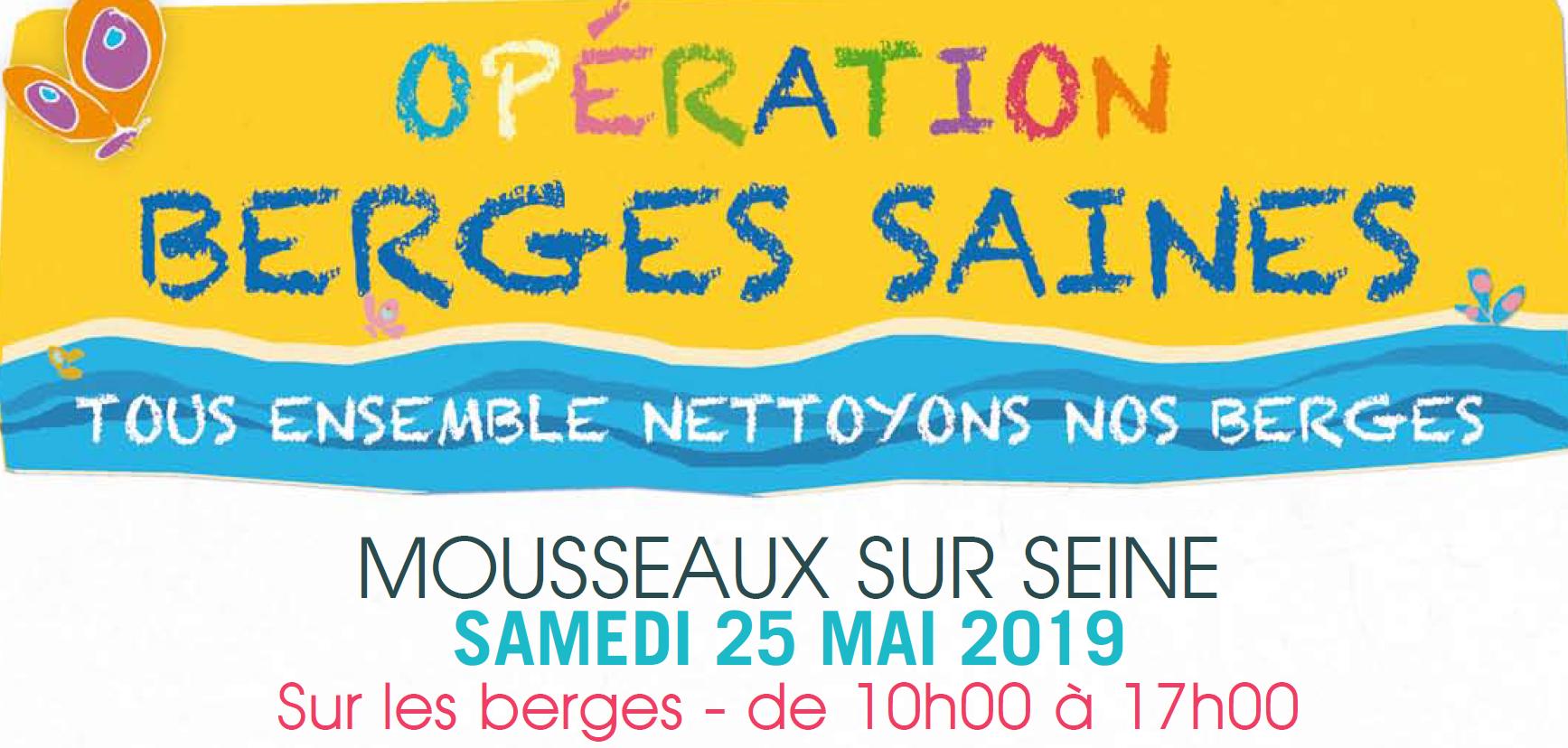 Nettoyage des berges de Seine